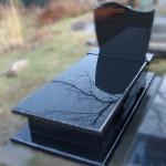 Nagrobek granitowy - Black (czarny)